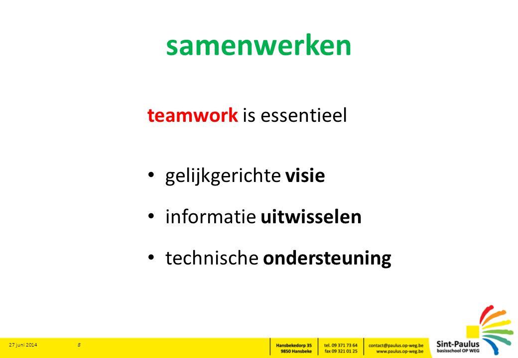 samenwerken teamwork is essentieel gelijkgerichte visie