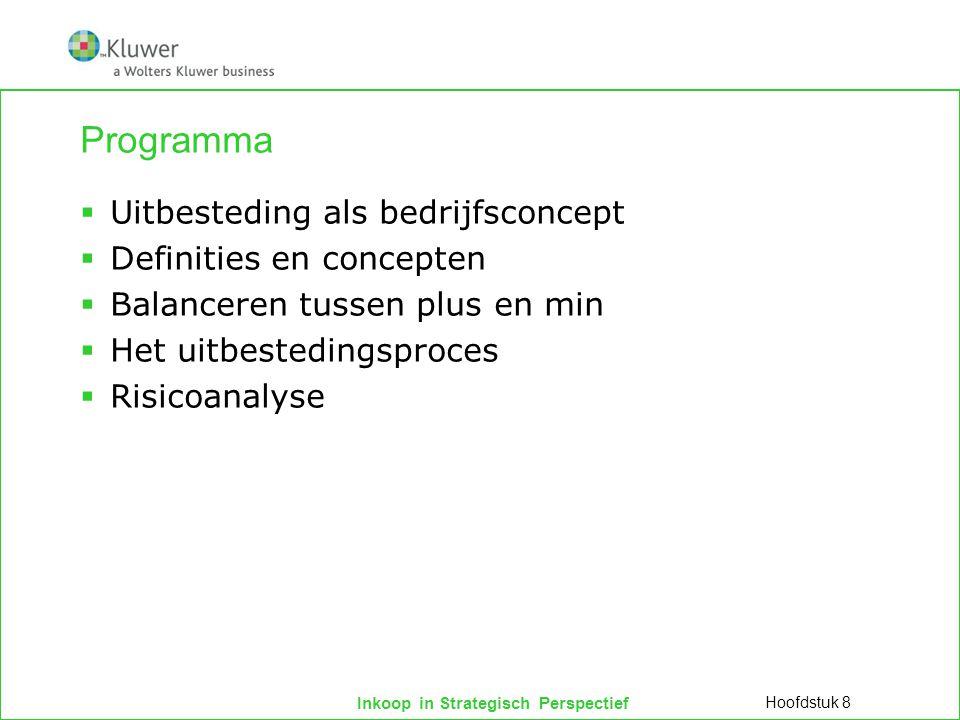 Programma Uitbesteding als bedrijfsconcept Definities en concepten
