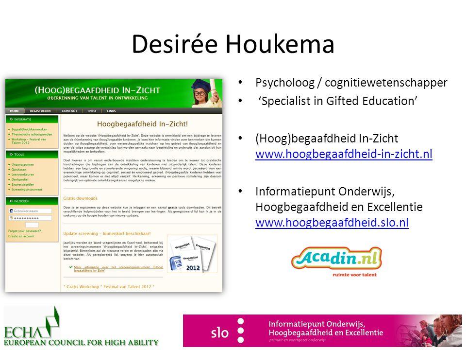 Desirée Houkema Psycholoog / cognitiewetenschapper