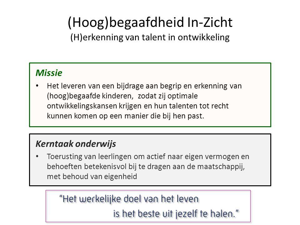 (Hoog)begaafdheid In-Zicht (H)erkenning van talent in ontwikkeling