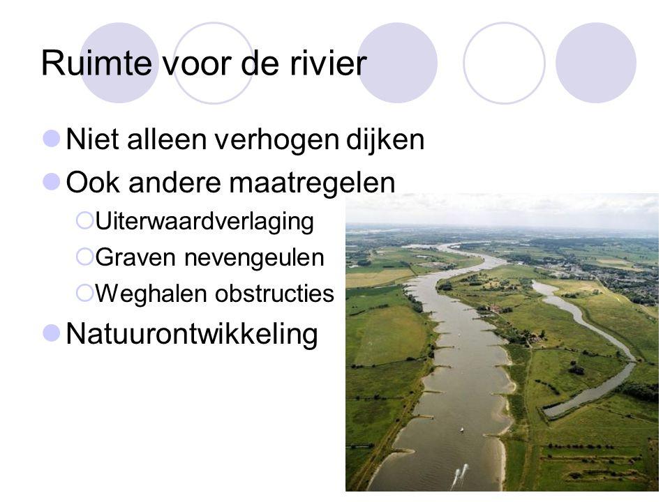Ruimte voor de rivier Niet alleen verhogen dijken