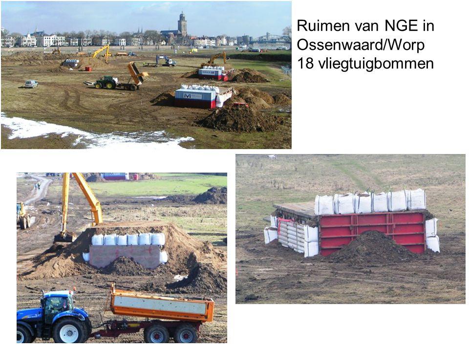 Ruimen van NGE in Ossenwaard/Worp