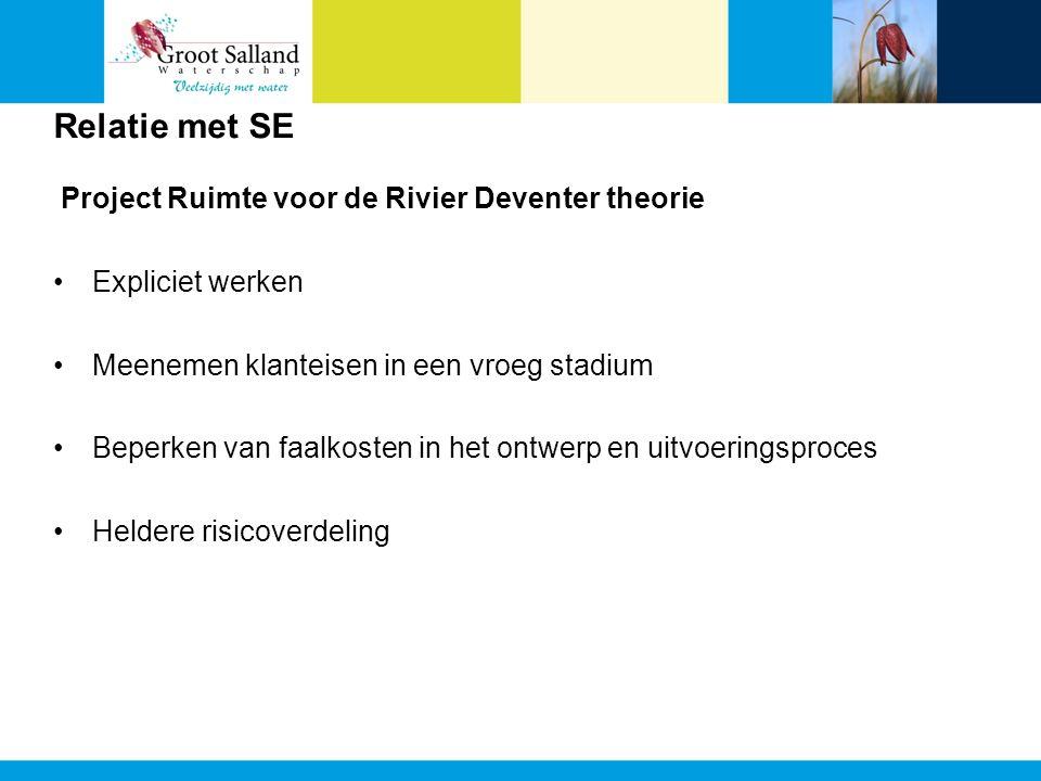 Relatie met SE Project Ruimte voor de Rivier Deventer theorie