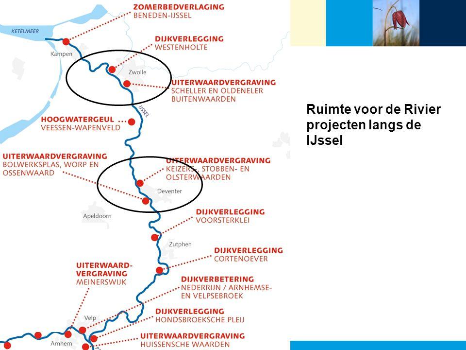 Ruimte voor de Rivier projecten langs de IJssel