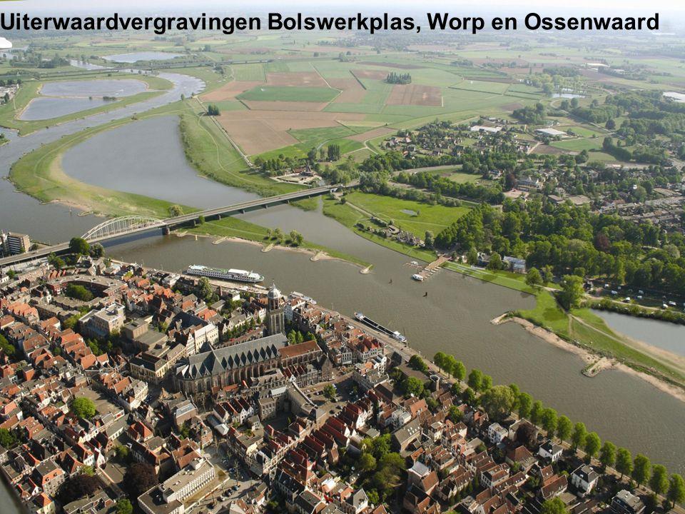 Uiterwaardvergravingen Bolswerkplas, Worp en Ossenwaard