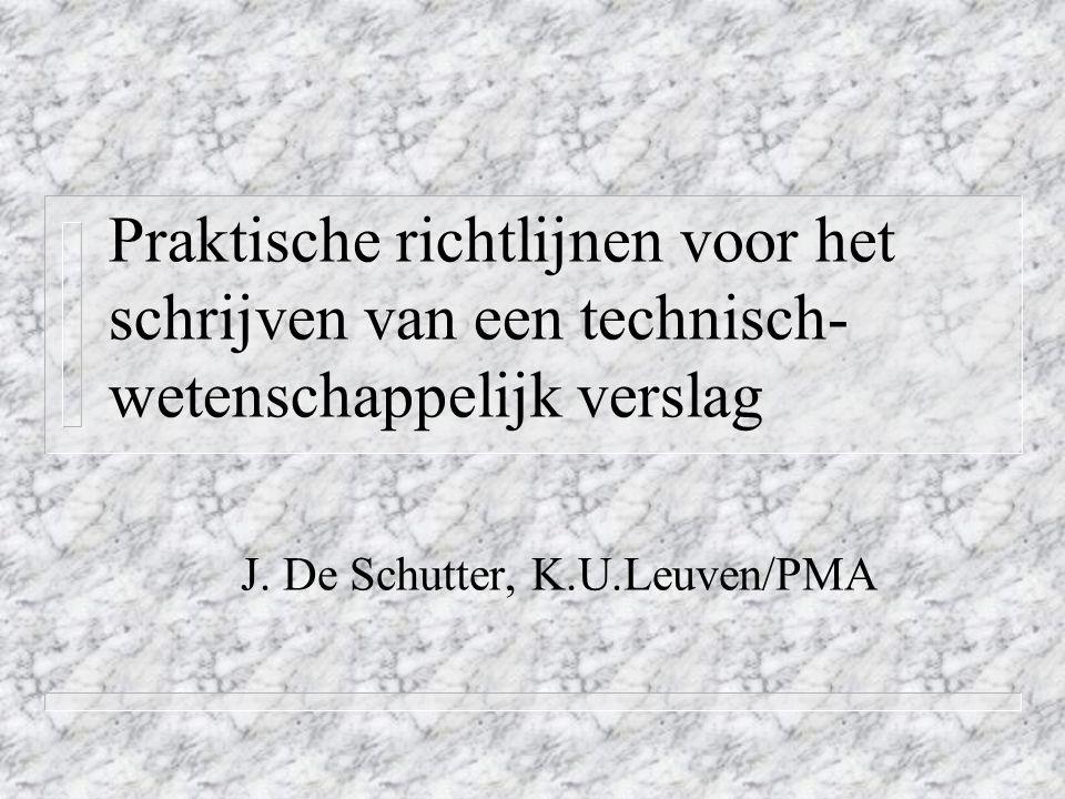 J. De Schutter, K.U.Leuven/PMA