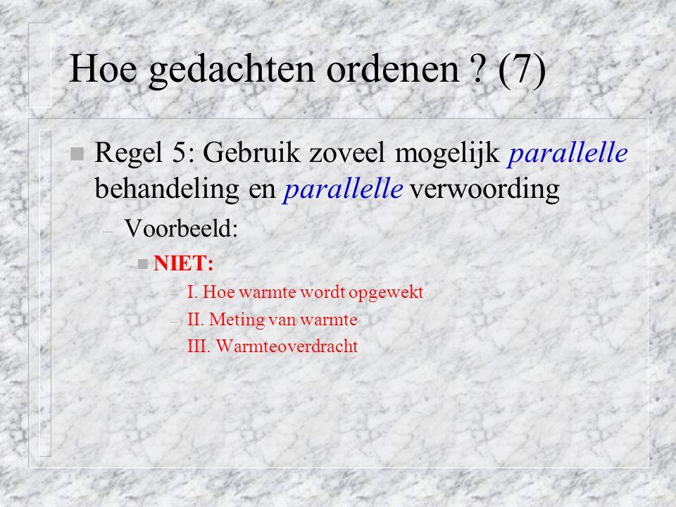 Hoe gedachten ordenen (7)