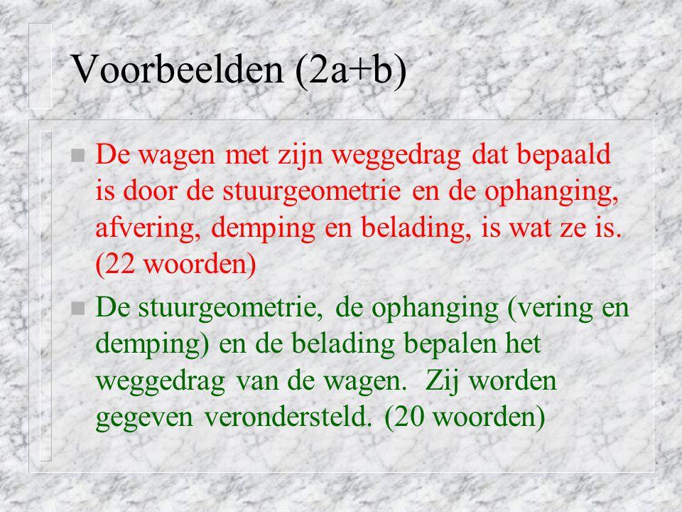 Voorbeelden (2a+b)