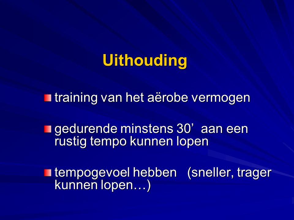 Uithouding training van het aërobe vermogen