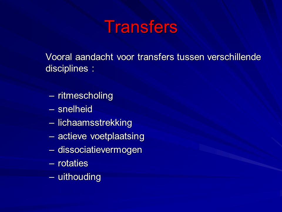 Transfers ritmescholing snelheid lichaamsstrekking