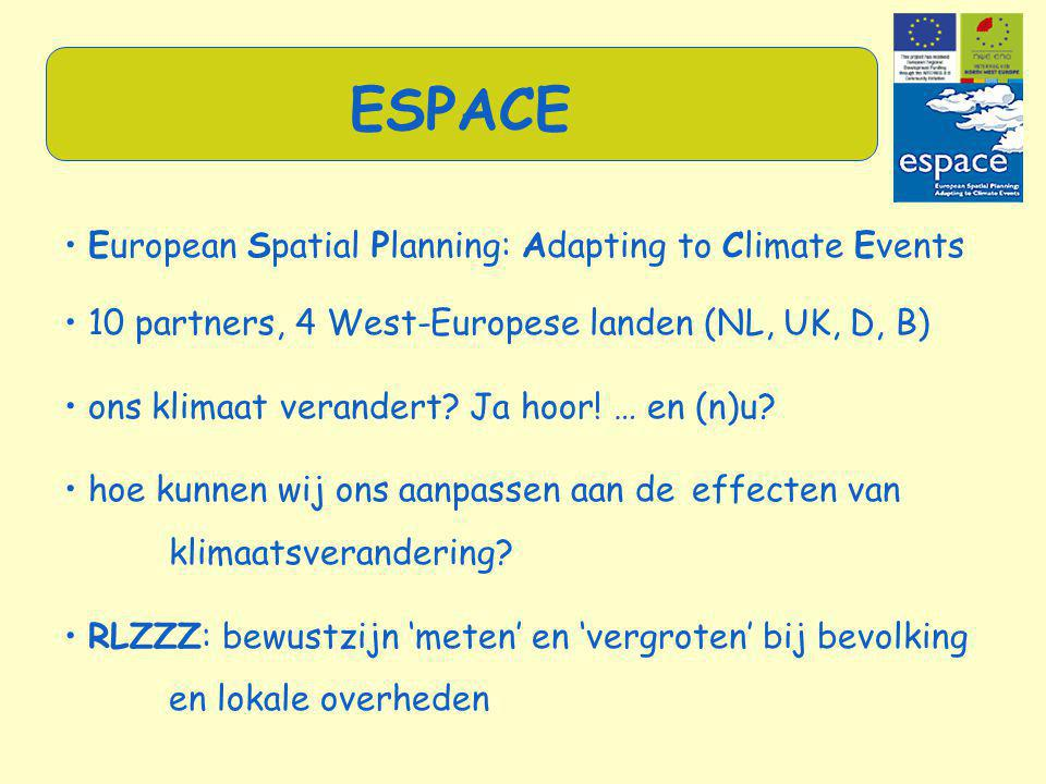 ESPACE • European Spatial Planning: Adapting to Climate Events