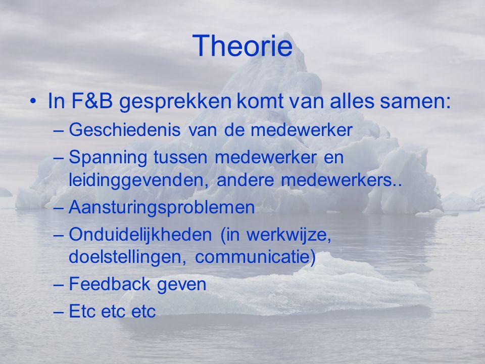 Theorie In F&B gesprekken komt van alles samen: