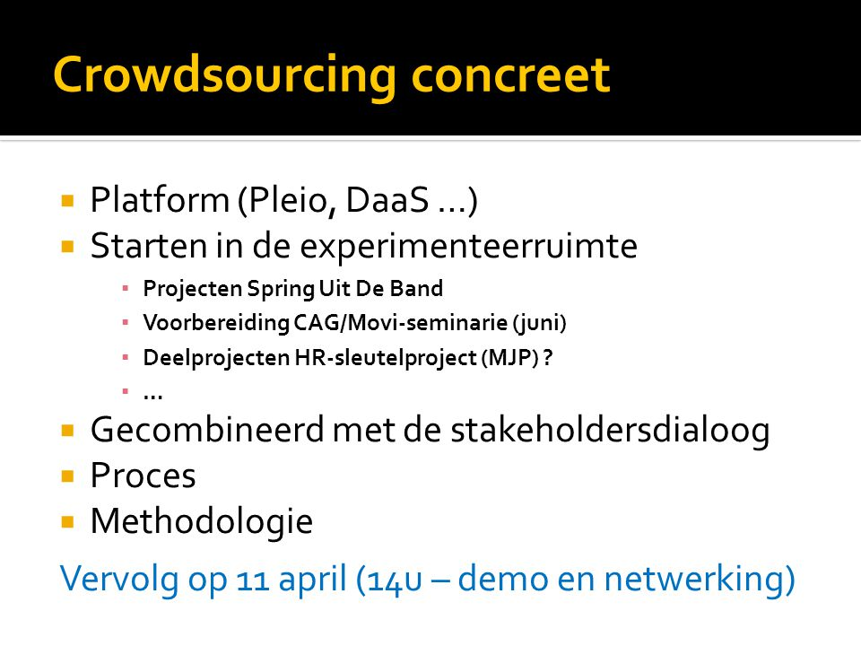 Crowdsourcing concreet
