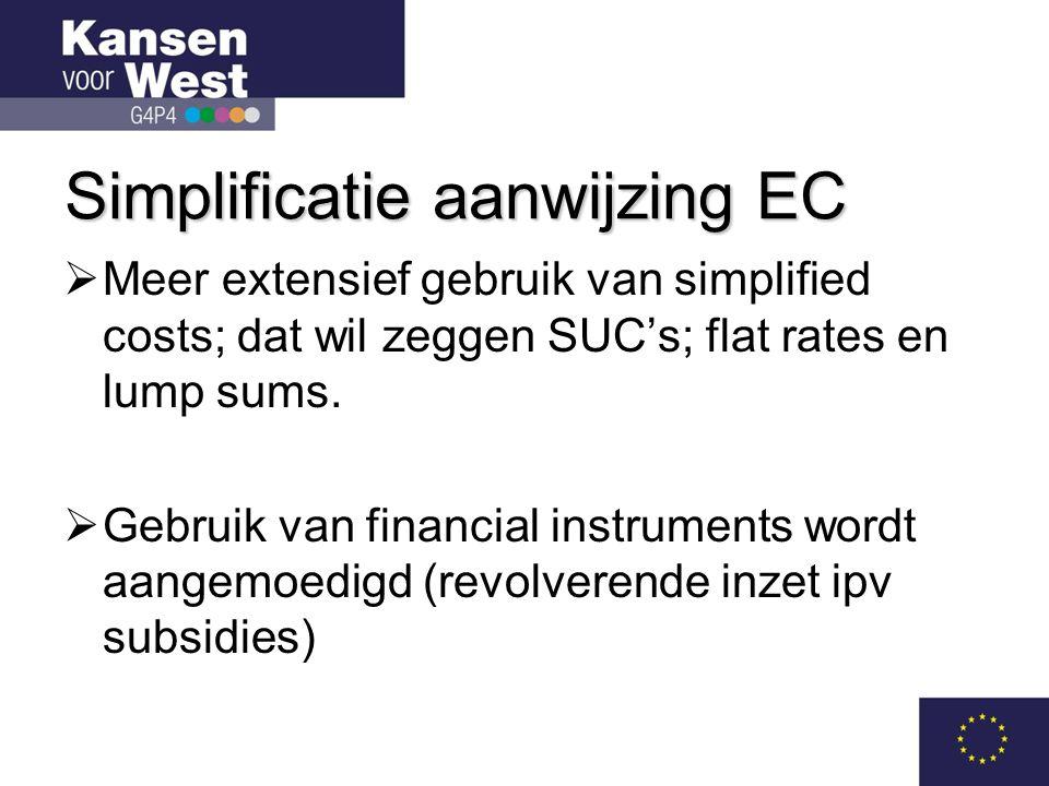 Simplificatie aanwijzing EC