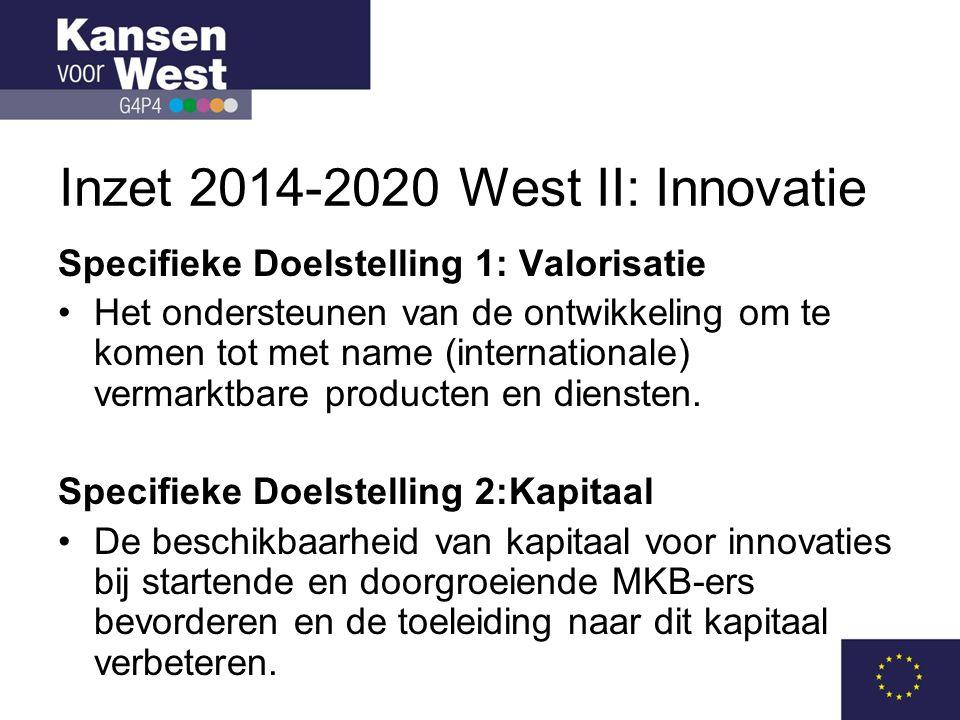 Inzet 2014-2020 West II: Innovatie