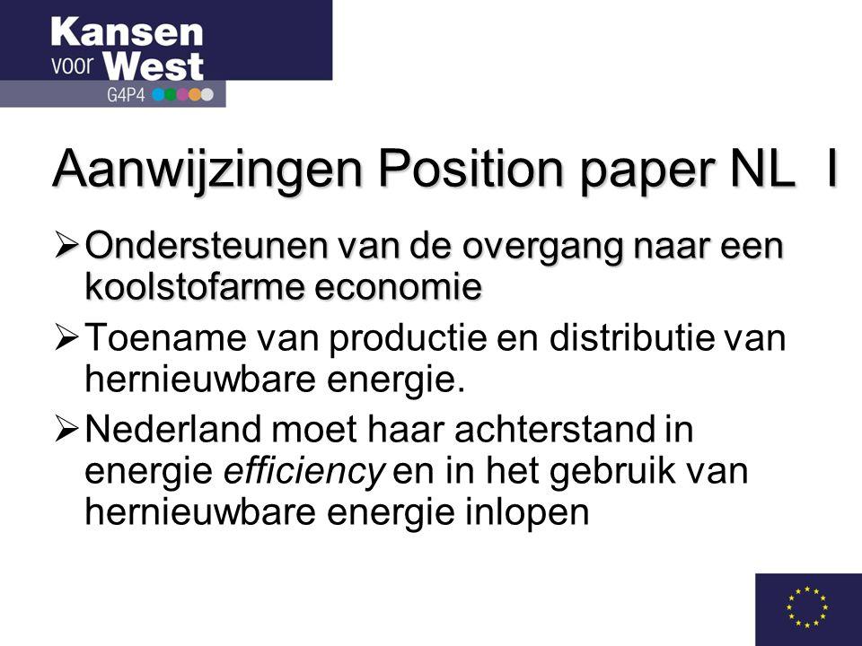 Aanwijzingen Position paper NL I