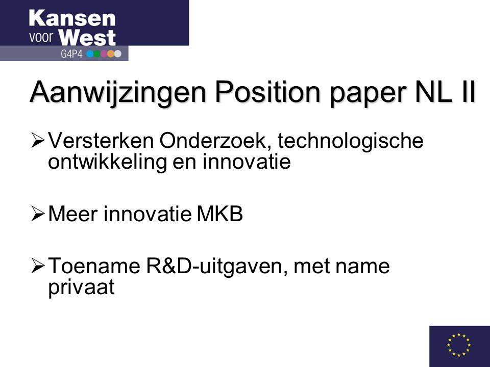 Aanwijzingen Position paper NL II