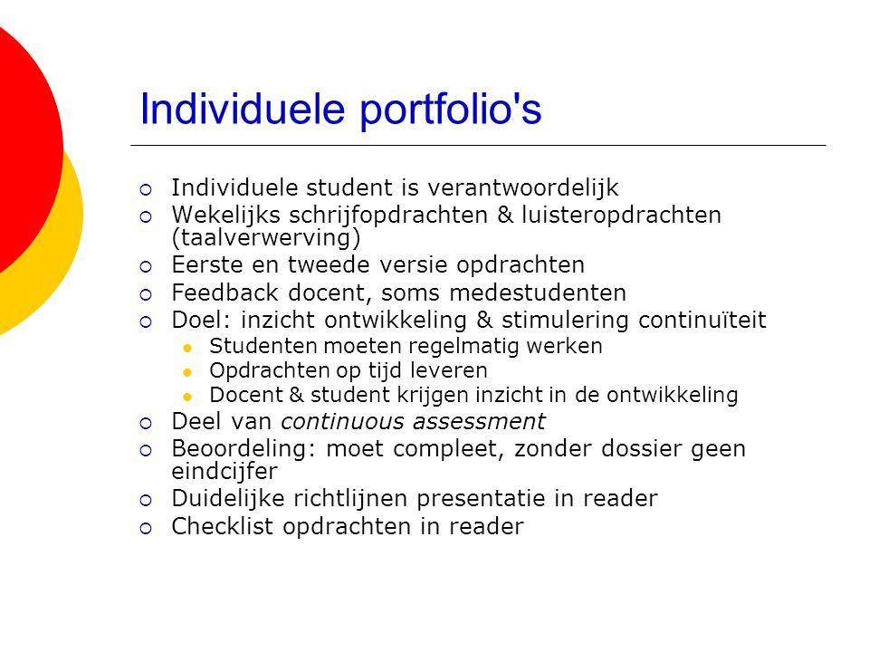 Individuele portfolio s