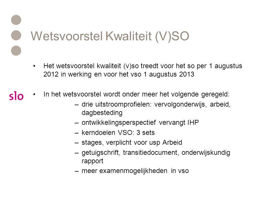 Wetsvoorstel Kwaliteit (V)SO