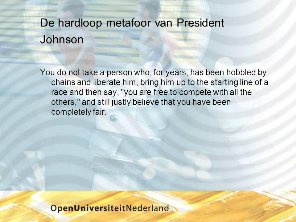 De hardloop metafoor van President Johnson