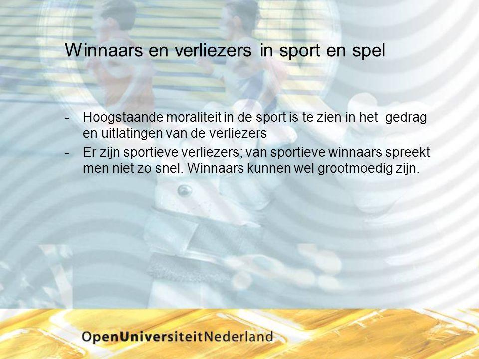 Winnaars en verliezers in sport en spel