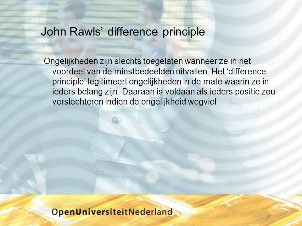 John Rawls' difference principle