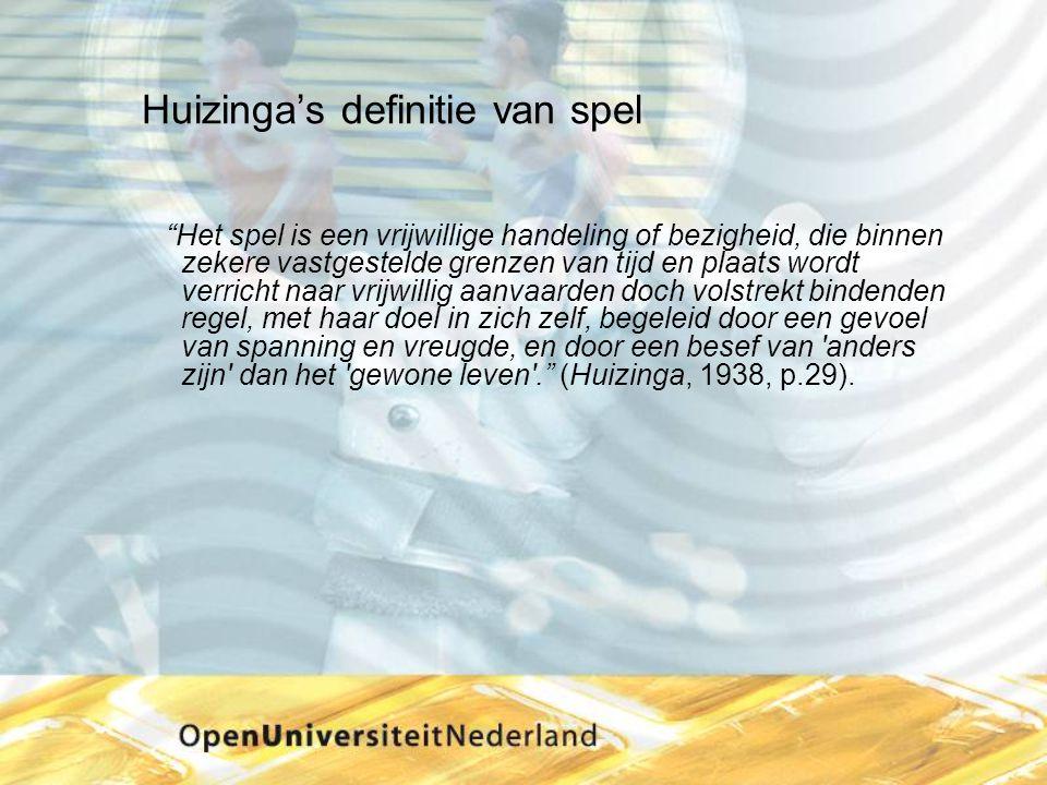 Huizinga's definitie van spel