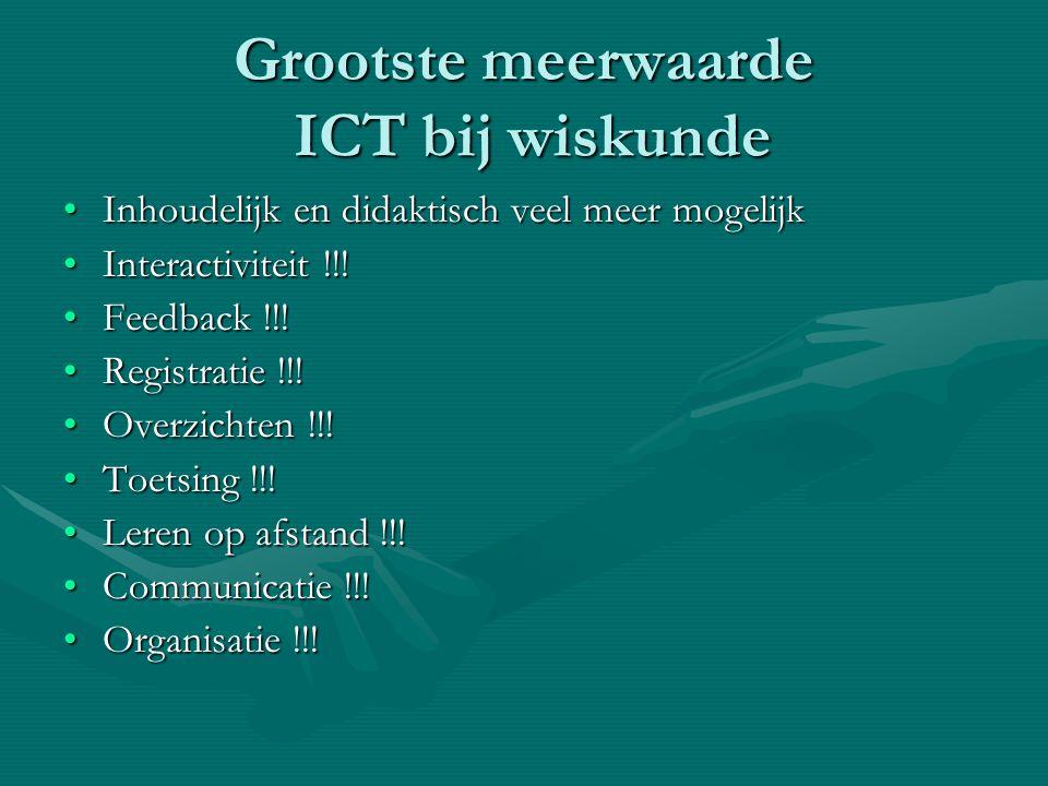 Grootste meerwaarde ICT bij wiskunde