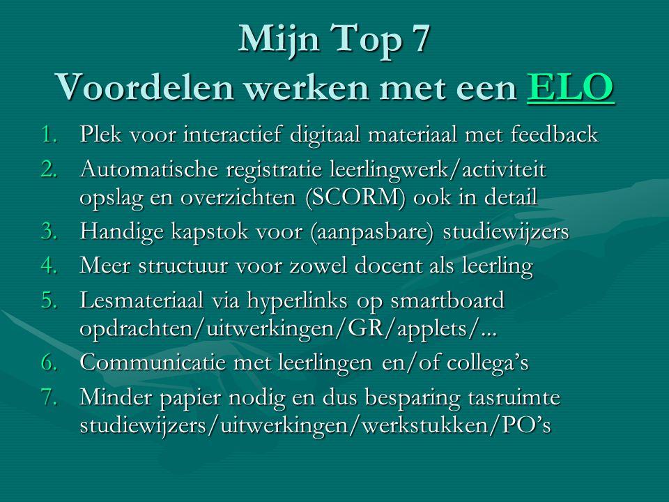 Mijn Top 7 Voordelen werken met een ELO