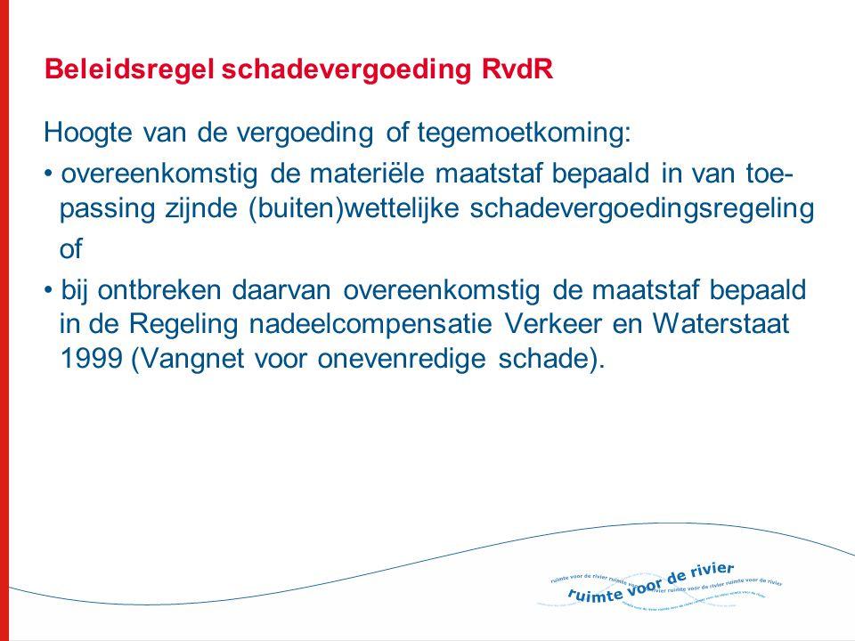 Beleidsregel schadevergoeding RvdR