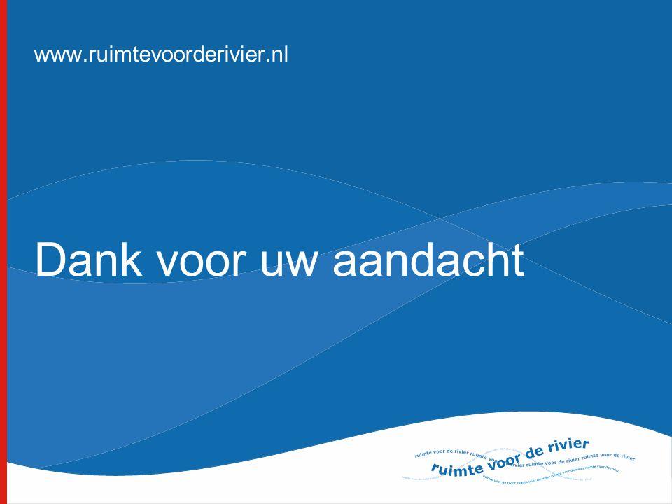 www.ruimtevoorderivier.nl Dank voor uw aandacht