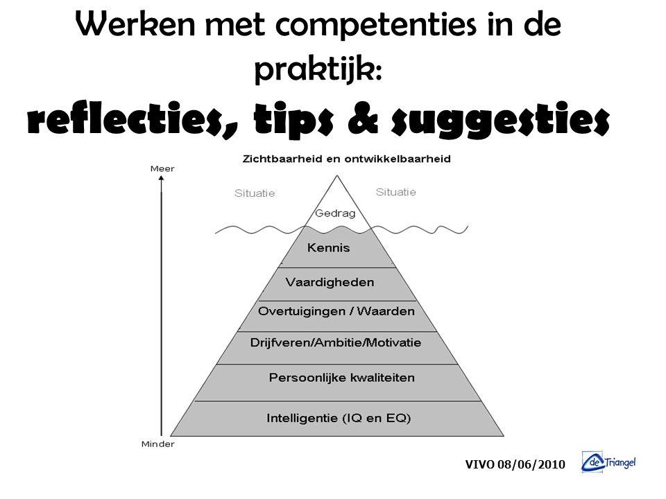 Werken met competenties in de praktijk: reflecties, tips & suggesties