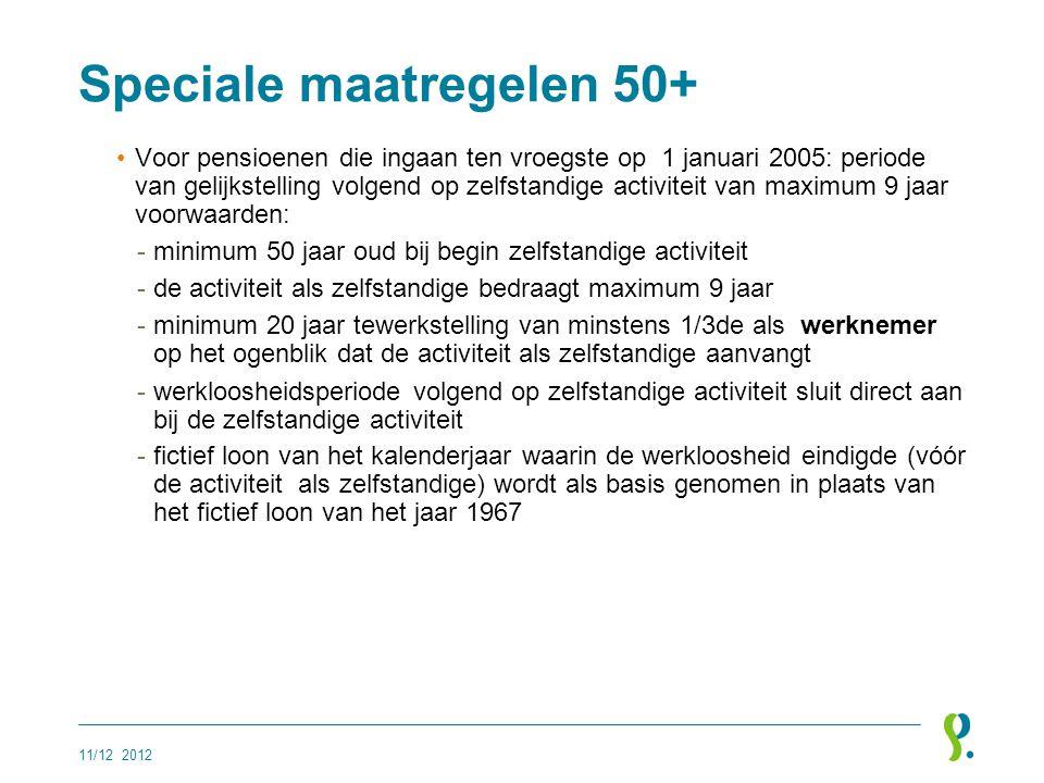 Speciale maatregelen 50+