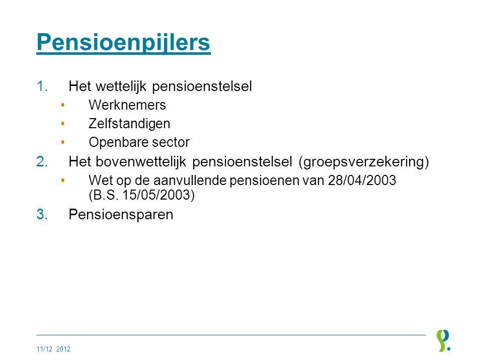 Pensioenpijlers Het wettelijk pensioenstelsel