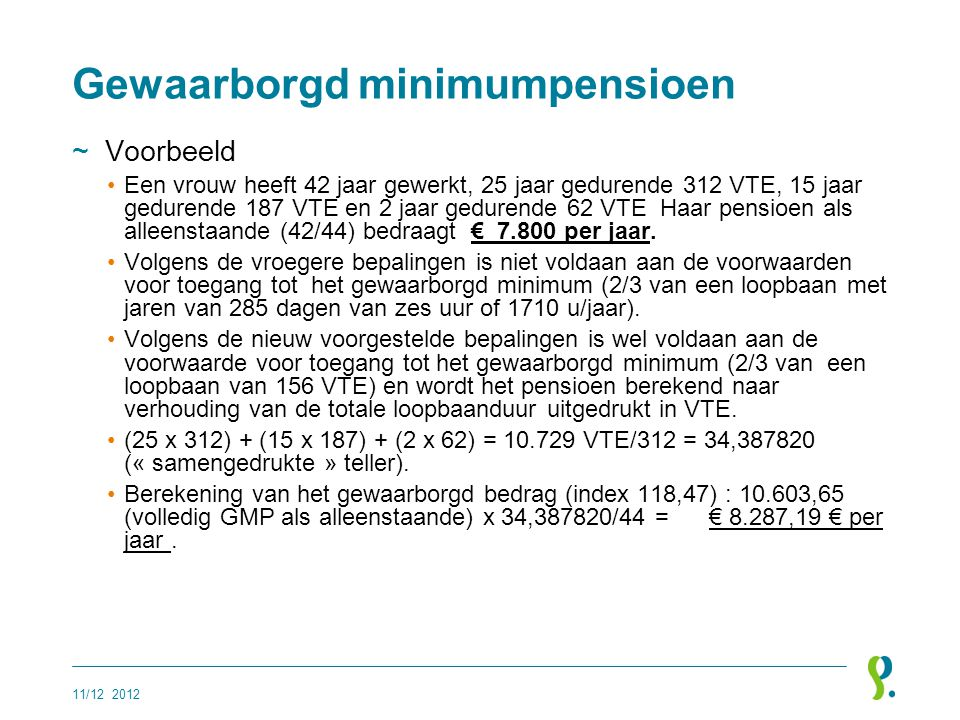 Gewaarborgd minimumpensioen