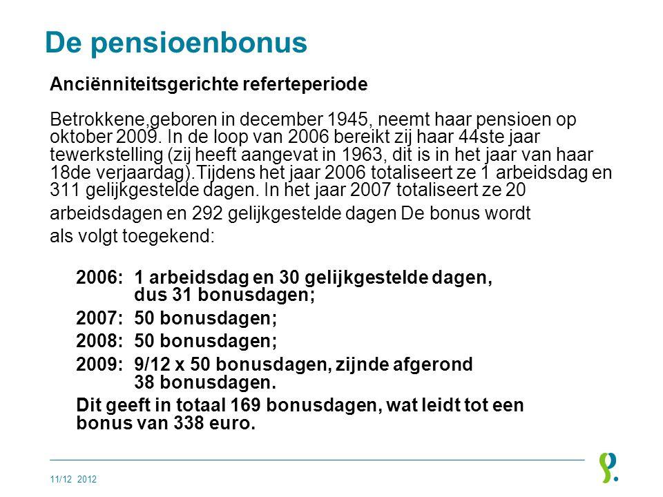 De pensioenbonus