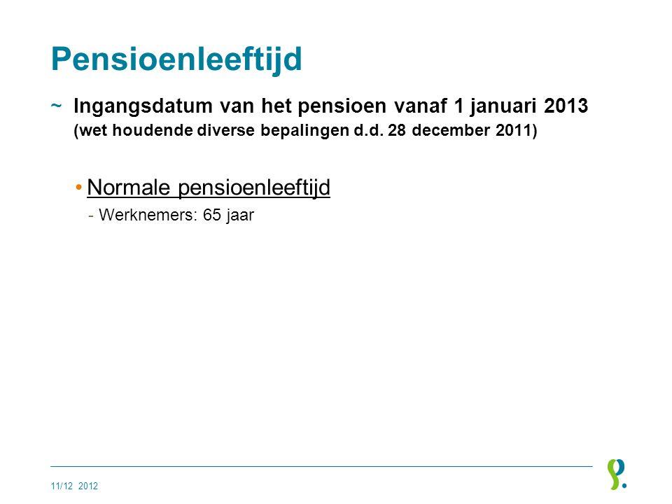 Pensioenleeftijd Normale pensioenleeftijd