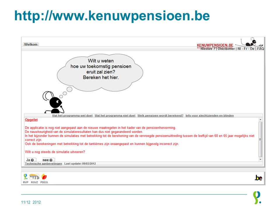 http://www.kenuwpensioen.be 11/12 2012
