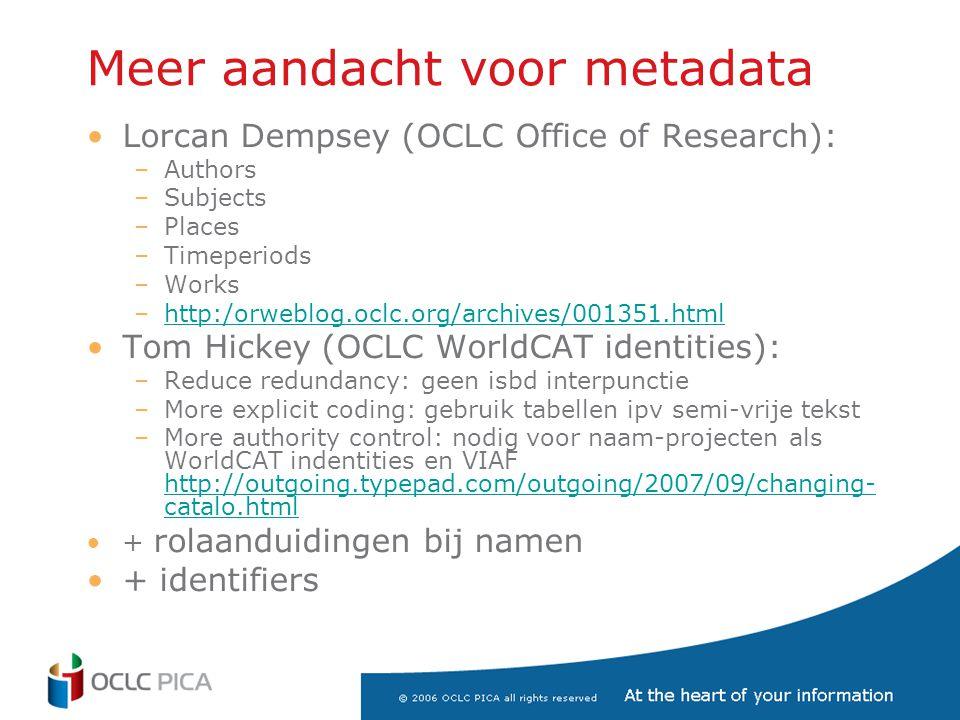 Meer aandacht voor metadata