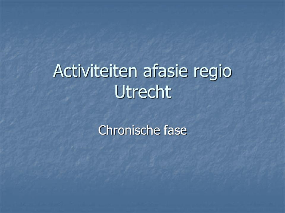 Activiteiten afasie regio Utrecht