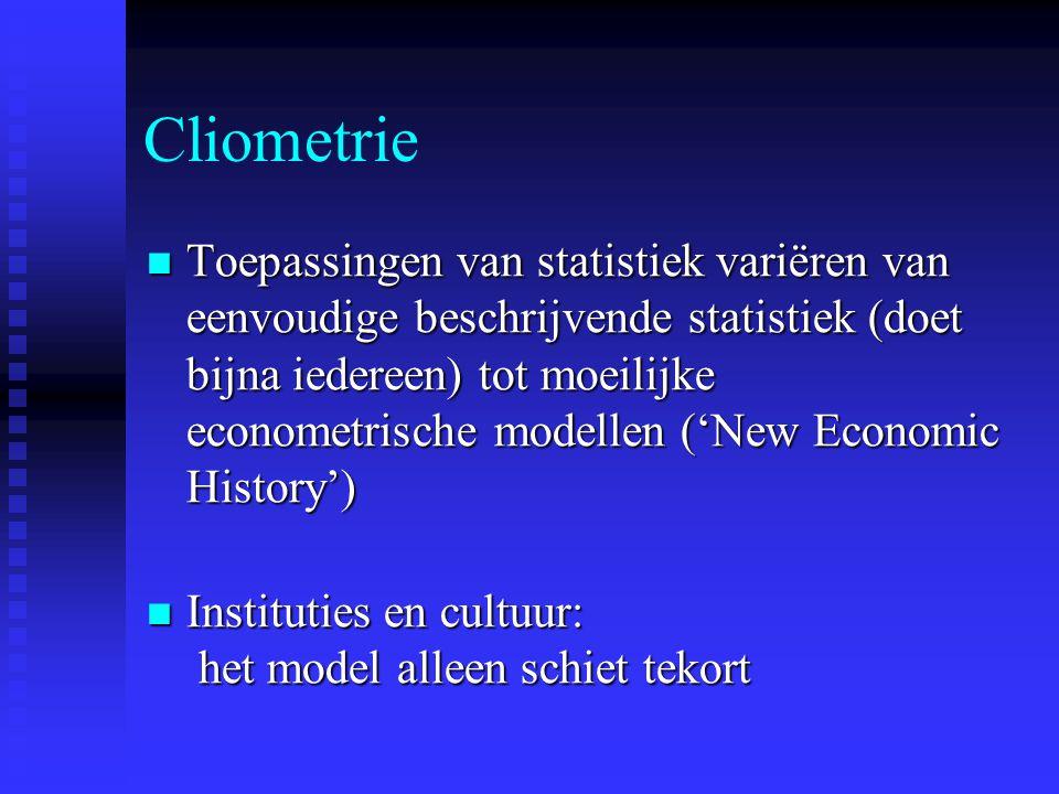 Cliometrie