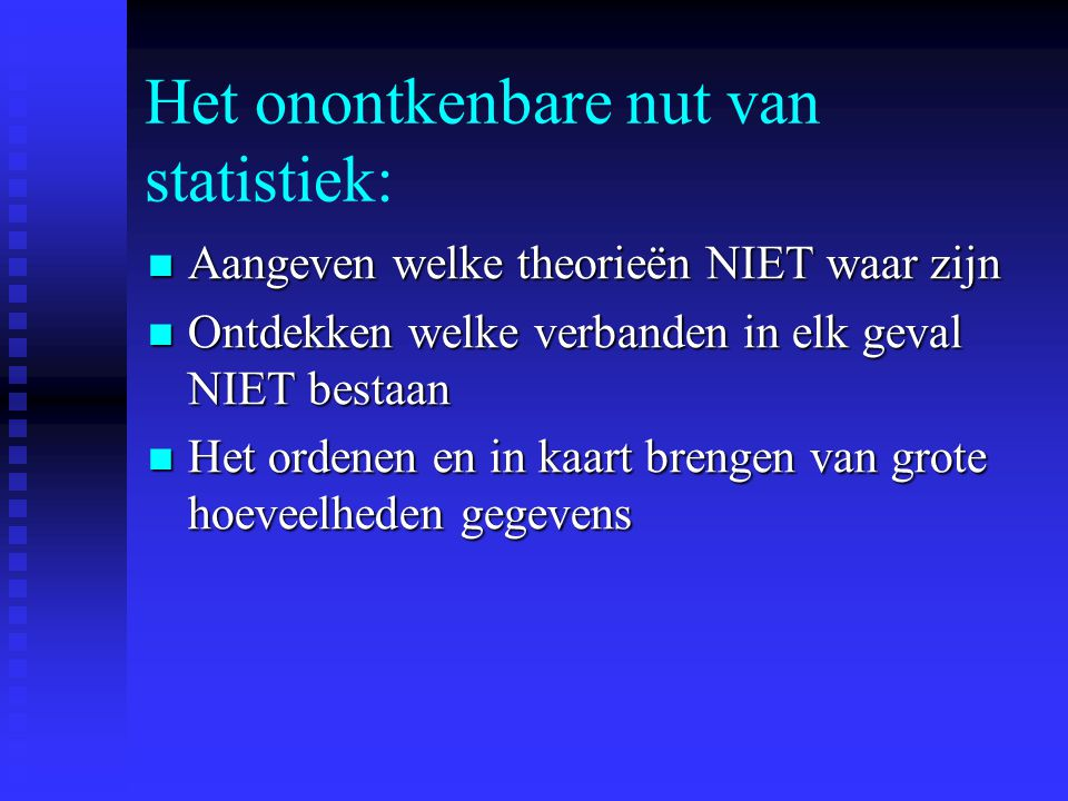 Het onontkenbare nut van statistiek: