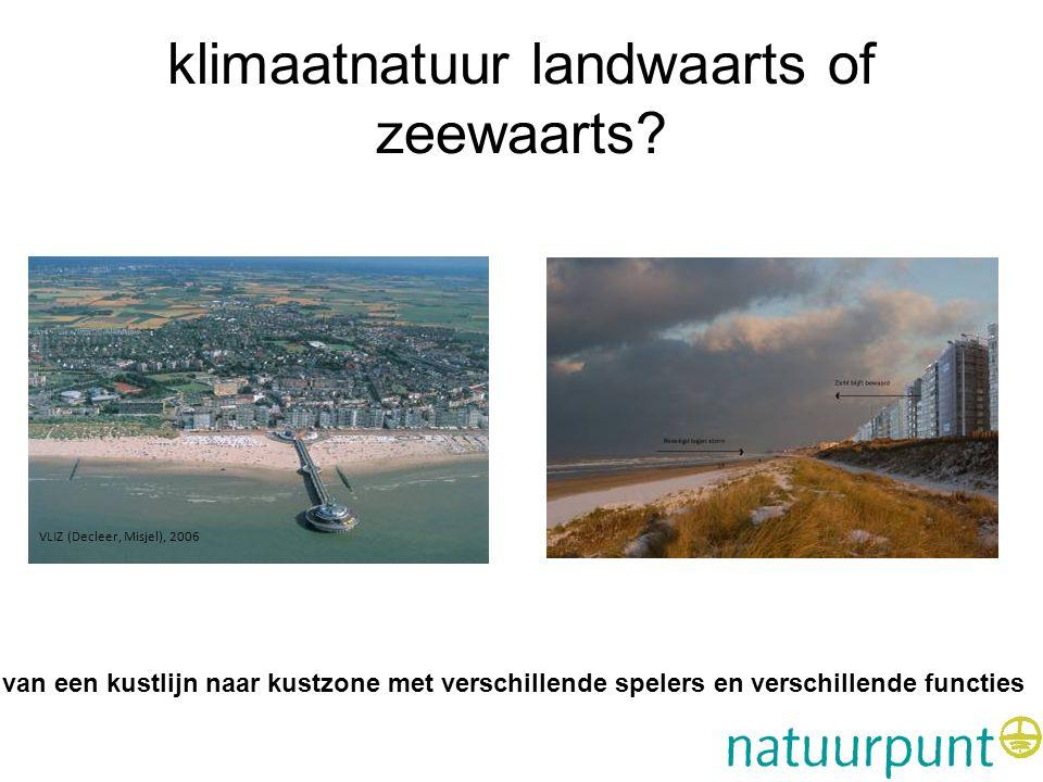 klimaatnatuur landwaarts of zeewaarts