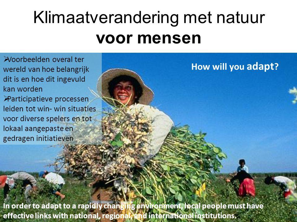 Klimaatverandering met natuur voor mensen