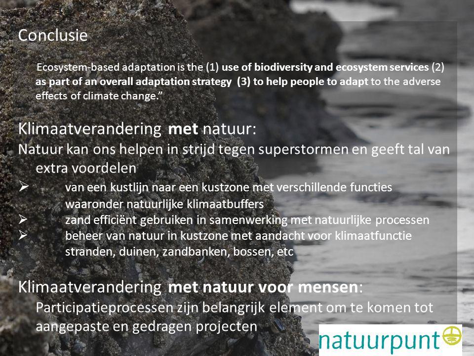 Klimaatverandering met natuur: