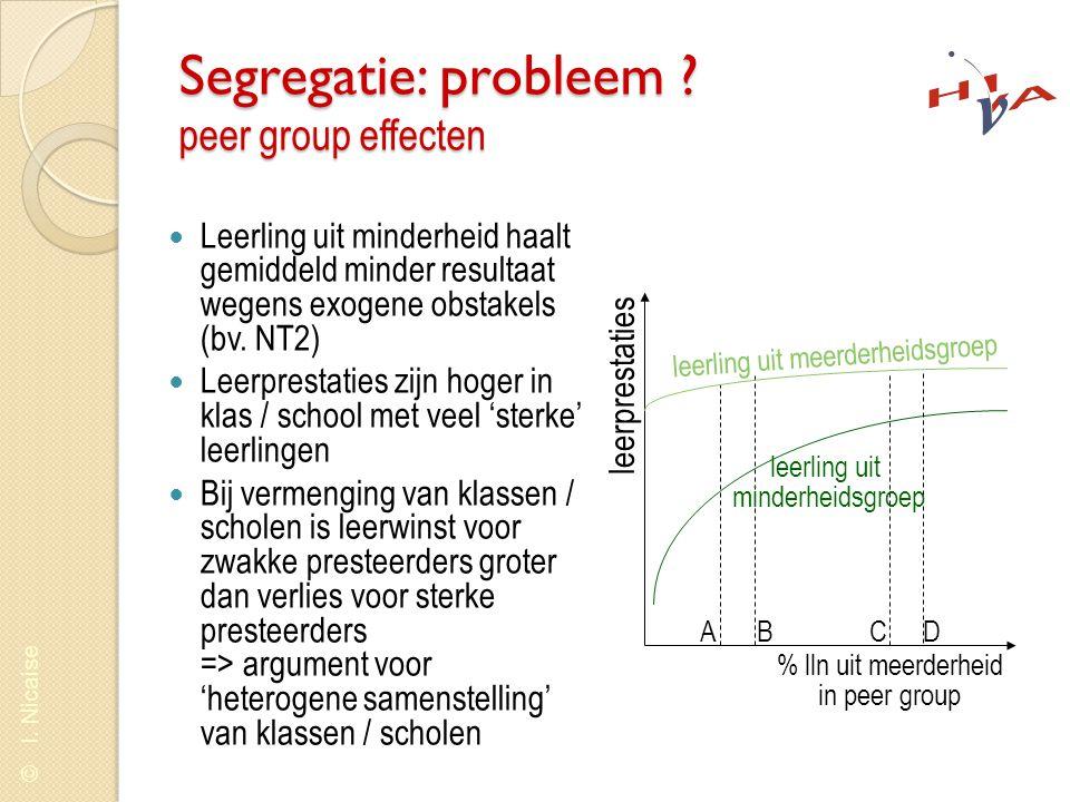 Segregatie: probleem peer group effecten