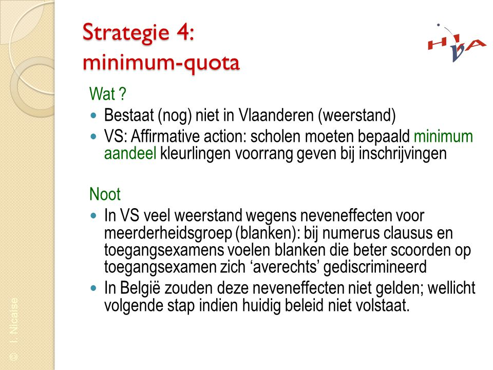 Strategie 4: minimum-quota