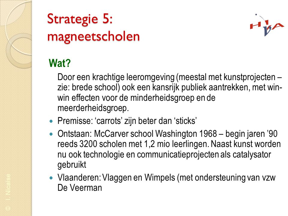 Strategie 5: magneetscholen