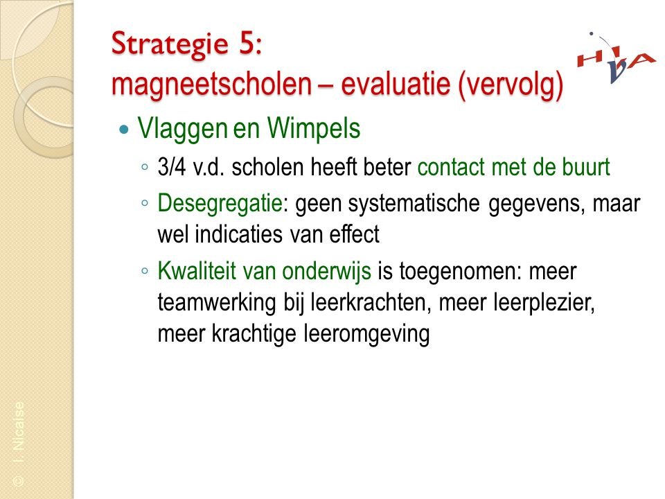 Strategie 5: magneetscholen – evaluatie (vervolg)