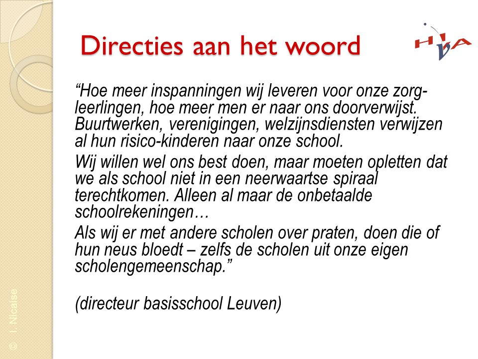 Directies aan het woord
